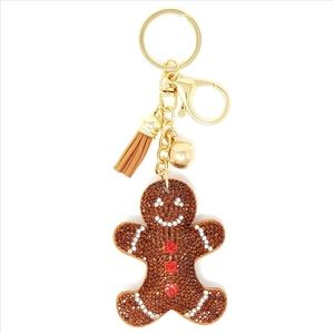 2/$20 Puffy Gingerbread Man Purse Charm